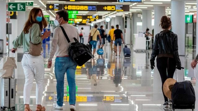 Aeropuerto Palma de Mallorca, España. Fronteras UE