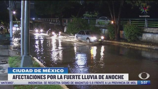 afectaciones por fuertes lluvias en la cdmx