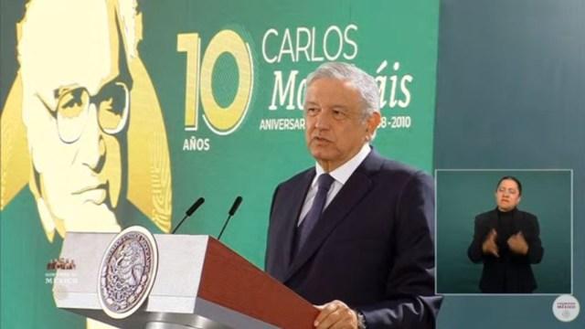 El presidente de Andrés Manuel López Obrador recuerda a Carlos Monsiváis. (Foto: Gobierno de México
