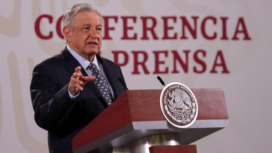 Andrés Manuel López Obrador, presidente de México, durante la conferencia. (Foto: Cuartoscuro)