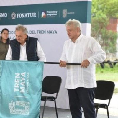 AMLO da tercer banderazo a obras del Tren Maya en Yucatán