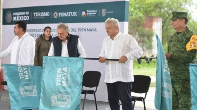 El presidente Andrés Manuel López Obrador dio banderazo a obras del Tren Maya en Campeche. (Foto: Gobierno de México)