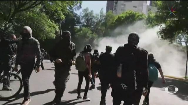Anarquistas vandalizan comercios en Polanco, CDMX