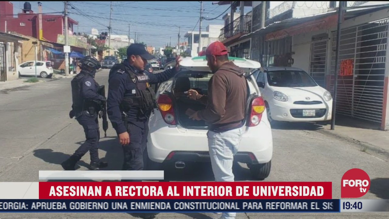 revisión de autos ttras el asesinan a rectora de la universidad valladolid en veracruz