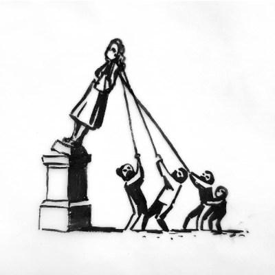 Banksy propone modificación de estatua derribada de traficante de esclavos