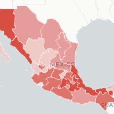 Mapa y casos de coronavirus en México del 6 de junio de 2020