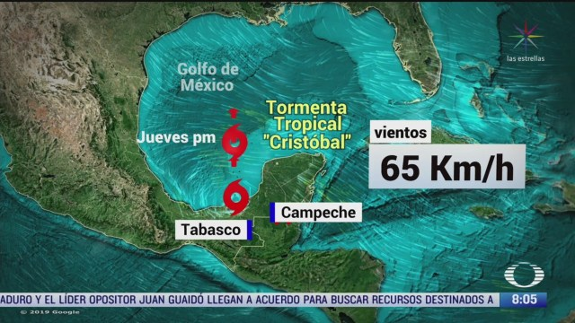 clima al aire tormenta tropical cristobal provocara lluvias en el sureste de mexico