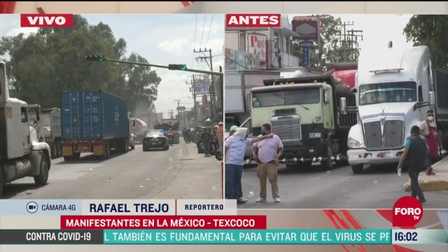 FOTO: comerciantes bloquean carretera mexico texcoco