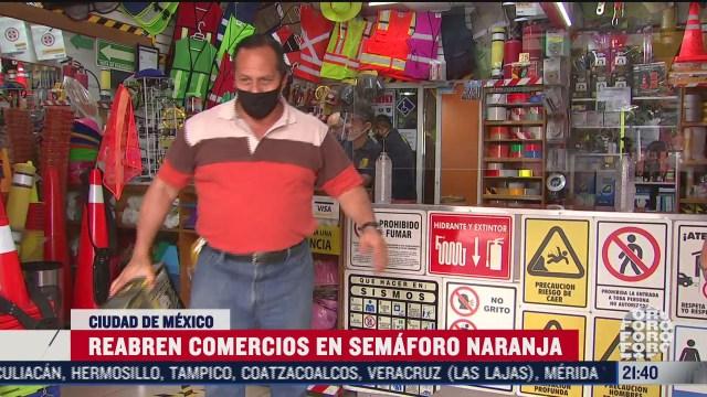 Comercios en CDMX reabren en semáforo naranja en pandeia coronavirus