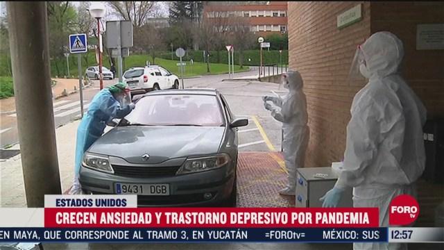 crece ansiedad y trastorno depresivo por pandemia en eeuu