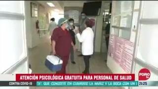 FOTO: 30 de junio 2020,dan atencion psicologica gratuita a personal medico
