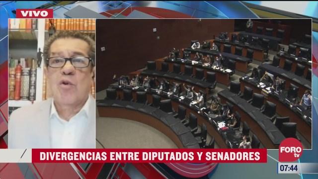 divergencias entre diputados y senadores