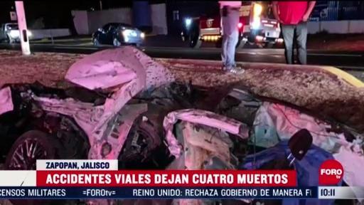 FOTO: 14 de junio 2020, dos accidentes vehiculares dejan cuatro personas muertas en zapopan jalisco