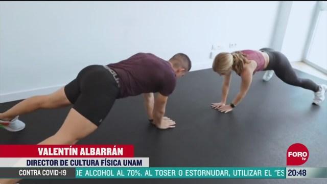 ejercicios para realizar en casa durante el confinamiento