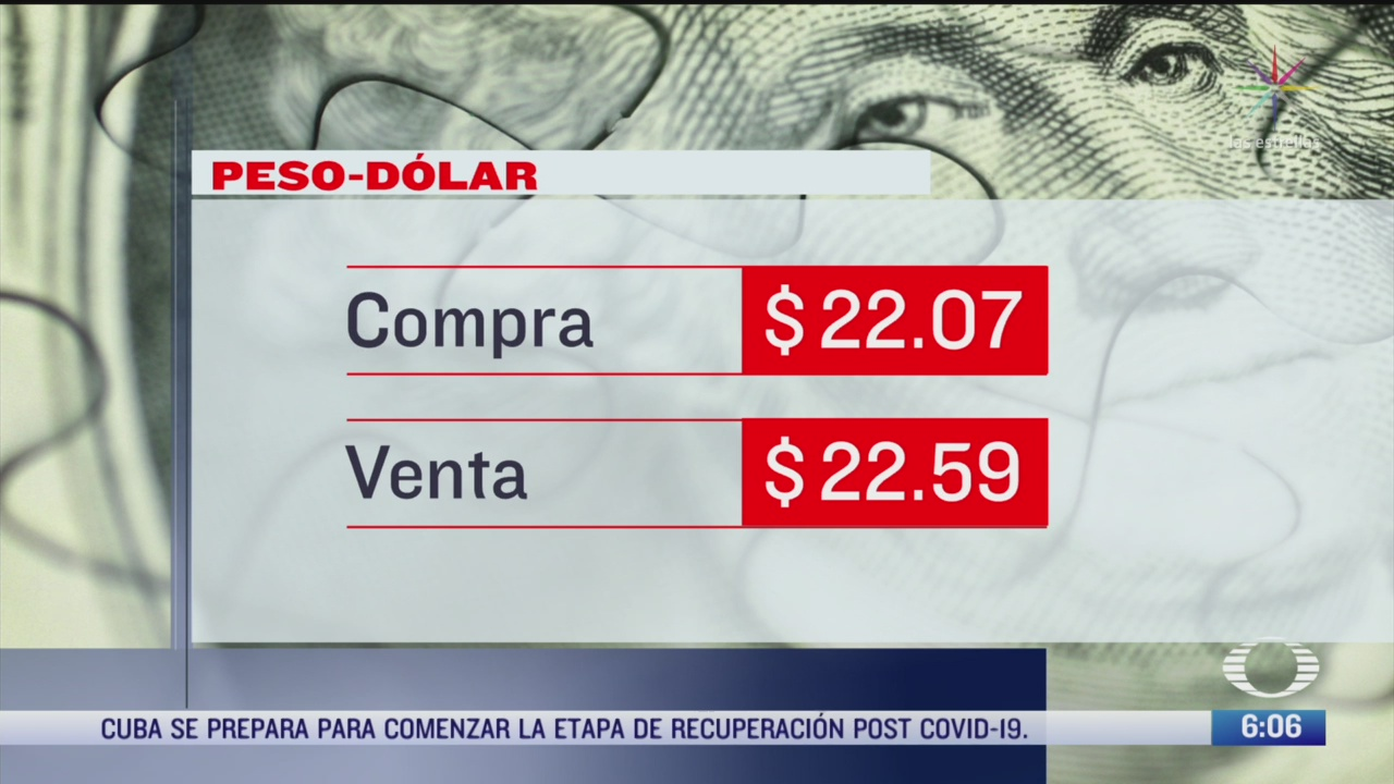 el dolar se vendio en 22 59 en la cdmx