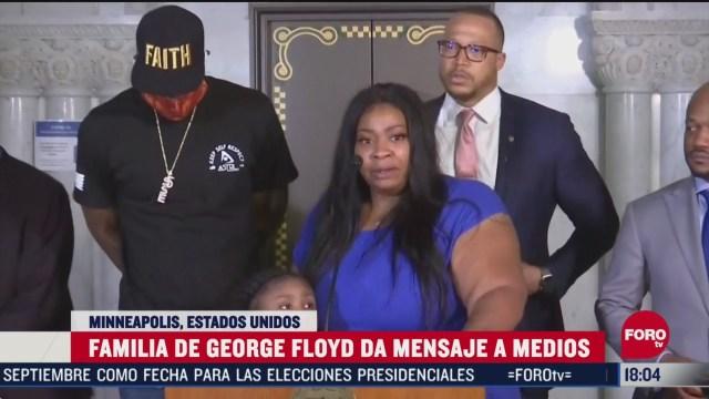 FOTO: el sensible mensaje de la madre de la hija de george floyd