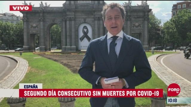 espana registra segundo dia consecutivo sin muertes por coronavirus