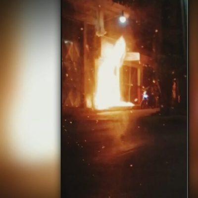 Extorsionadores  queman negocio en alcaldía Álvaro Obregón, en CDMX