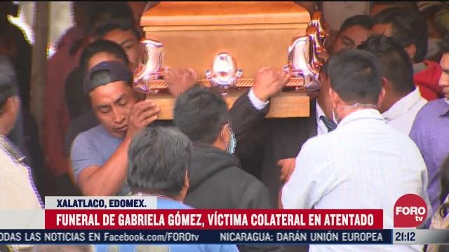 Funeral de Gabriela Gómez víctima de atentado contra Omar GarcíaHarfuch