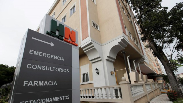 Hospital Nacional donde fue ingresado el exboxeador panameño Roberto 'Manos de Piedra' Durán