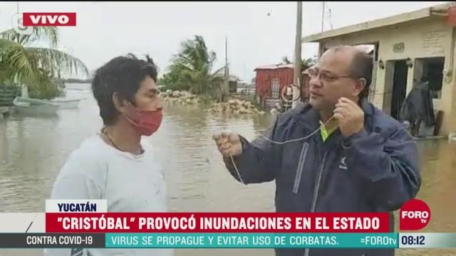 FOTO: 6 de junio 2020, inundaciones por tormenta tropical cristobal afectan a pobladores en yucatan
