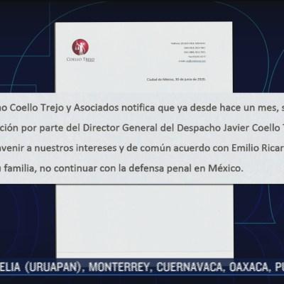 Javier Coello Trejo no continuará con la defensa de Emilio Lozoya