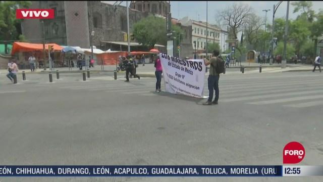 maestros bloquean paseo de la reforma cdmx