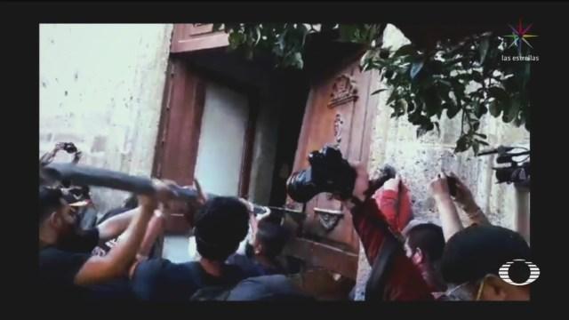 manifestaciones en el palacio de gobierno de guadalajara por muerte de un joven