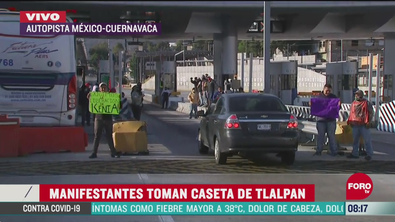 manifestantes toman caseta de tlalpan