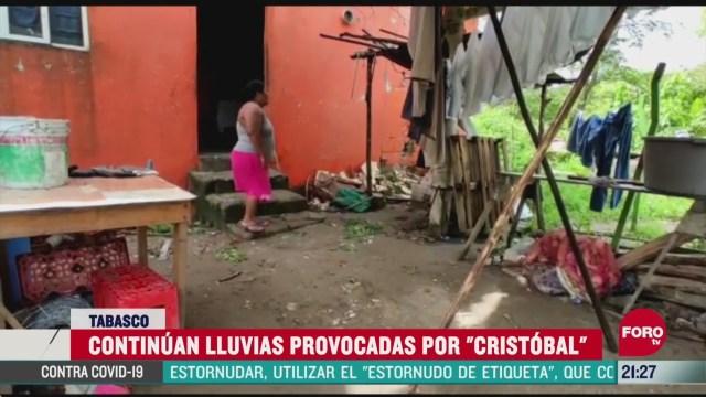 mas de 600 casas afectadas por cristobal en tabasco