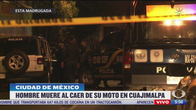 muere hombre al caer de su moto en cuajimalpa cdmx