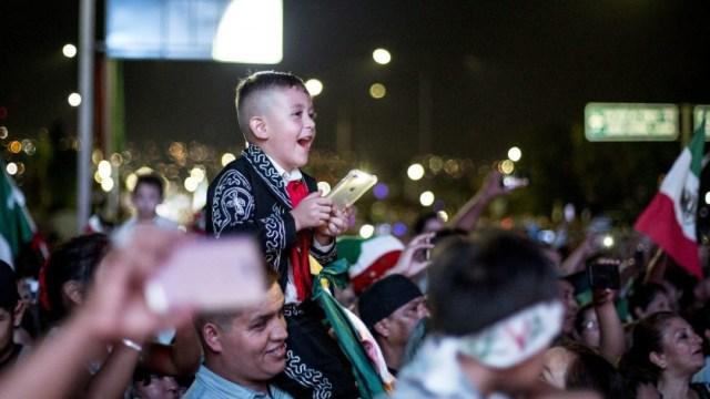niño celebra Grito de Independencia en México