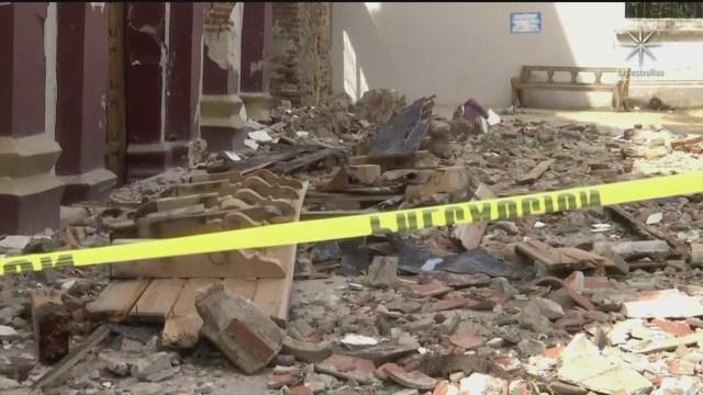 poblados de oaxaca dañados por el sismo en México del 23 de junio