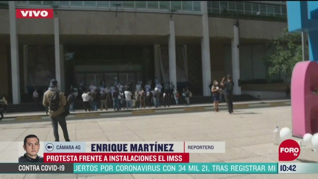 protestan frente a instalaciones del imss en paseo de la reforma en cdmx