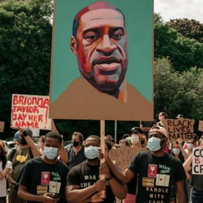 Miles protestan en Nueva York por la muerte de George Floyd. Getty Images