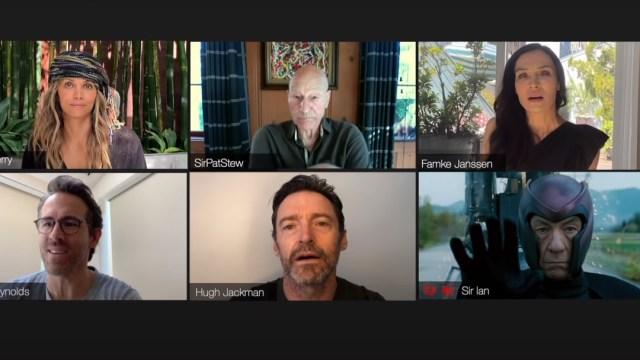 Reunion miembros originales X Men Hugh Jackman y Ryan Reynolds captura de pantalla