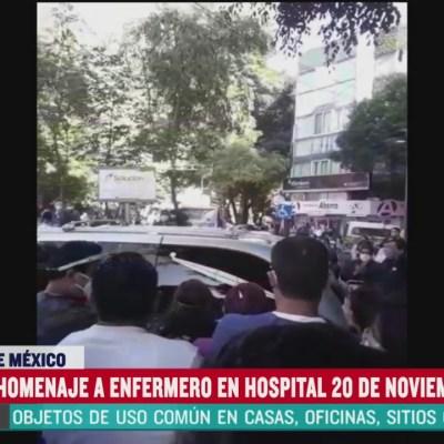 Rinden homenaje a enfermero en Hospital 20 de Noviembre