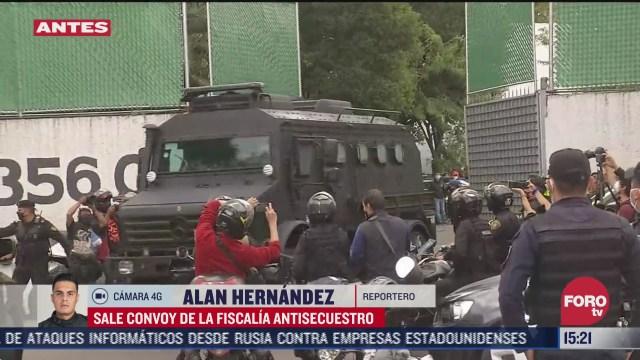 FOTO: 28 de junio 2020, sale convoy de la fiscalia antisecuestro con detenidos por atentado contra garcia harfuch