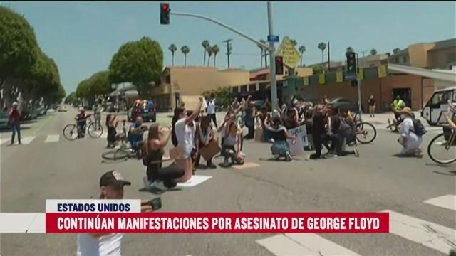 FOTO: se cumplen once dias de protestas por muerte de george floyd