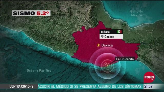 se registra sismo de magnitud 5 2 en las costas de oaxaca