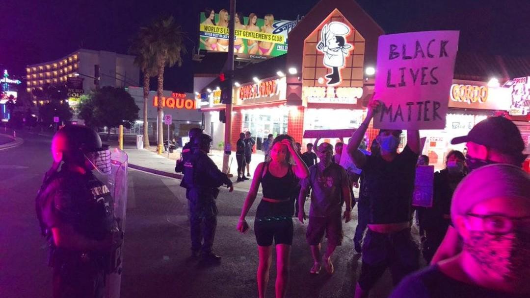 Foto: Se registran dos tiroteos en Las Vegas, durante protestas por muerte de Floyd