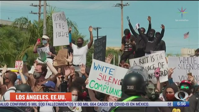 sigue el toque de queda por protestas en los angeles