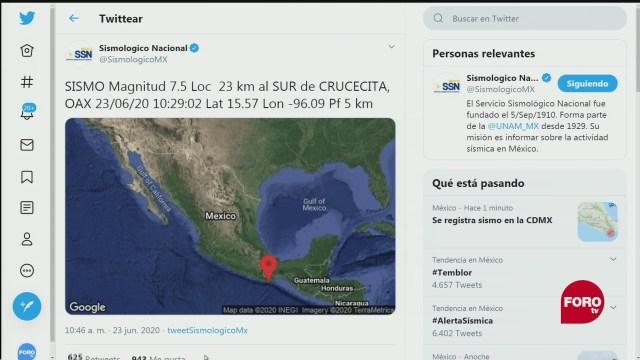 sismo de 7 5 grados preliminar sacude a la cdmx