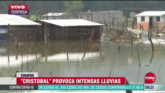 FOTO: 6 de junio 2020, tormenta tropical cristobal deja danos en 30 municipios de chiapas