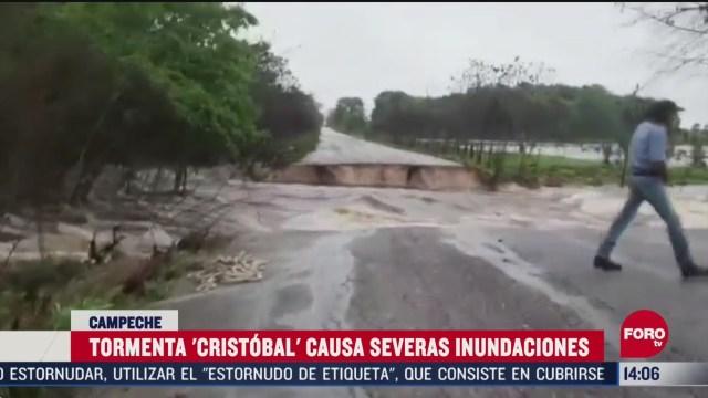 FOTO: tormenta tropical cristobal deja inundaciones en campeche