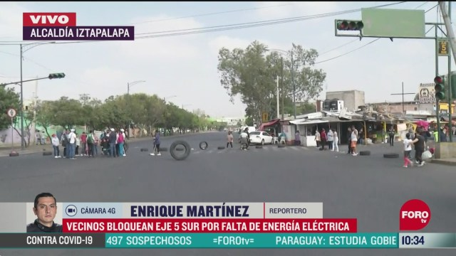 vecinos bloquean eje 5 sur en alcaldia iztapalapa