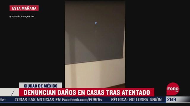 daños en casas de Las Lomas tras el atentado a Omar García Harfuch secretario d seguridad ciudadana