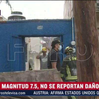 Vivienda colapsa tras sismo en Eje Central, CDMX
