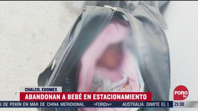 bebé abandonada en maleta en estacionamiento de chalco, Edomex