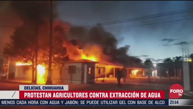 agricultores de Delicias, Chihuahua, protestaron contra extración de agua
